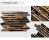 Venta al por mayor directa de fábrica en el interior de estilo europeo Mosaico de vidrio de color marrón oscuro