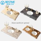 Heißes Saling Badezimmer-Möbel-festes Holz-Material mit Spiegel by-F8016