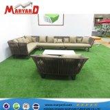 Durable Jardín Balcón Patio Resistace UV Cuerda Sofá muebles de exterior con cojines de tela