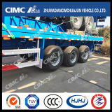 Venta caliente la superficie plana de 40 pies Semi-Trailer