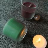 Vela de cristal coloreada púrpura azul redonda del tarro de Bottem con ISO9001