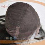 Perruque de lacet de travail attachée par main de cheveux humains pleine (PPG-l-0837)