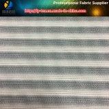 Polyester+Nylon 2/1 능직물 씨실 탄력 있는 수평한 줄무늬 직물
