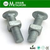 Galvanisierte überzogene Pilz-Kopf-Quadrat-Stutzen-Schraube (DIN603)