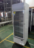 260L visor de bebidas vertical frigorífico com uma única porta de vidro