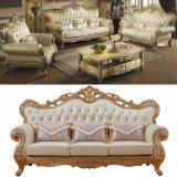 Reales ledernes Sofa mit Kaffeetische für Hauptmöbel (533A)