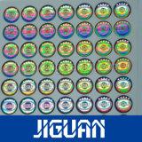 De zelfklevende Gouden Zilveren Sticker van het Hologram van de Douane van de anti-Vervalsing van de Folie Geschikt om gedrukt te worden