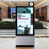 Visualización publicitaria de interior del LCD de la pantalla comercial del monitor del soporte del suelo