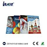 vídeo de 2.8 '' LCD Monitore con las tarjetas de felicitación
