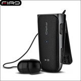 Mini écouteur escamotable de Bluetooth d'écouteur à agrafe sans fil de Bluetooth
