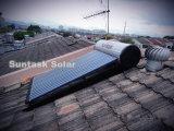 Montado en el techo de paneles solares de agua