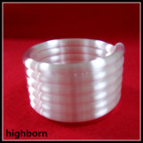 Tubo de cristal espiral claro modificado para requisitos particulares de cuarzo