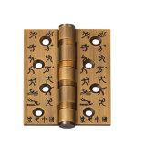 Современный стиль твердых деревянной дверью с позолоченными контактами на закрытие петель задней двери