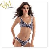 Мода модели пола фотографии Sexy разрыв линии бикини сексуальные девушки купальный костюм