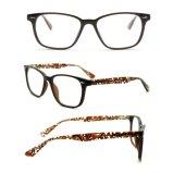 Stock d'acétate de Fashion noir mat des trames de lunettes optiques pour la jeune fille