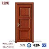 Дверь обеспеченностью парадного входа конструкции главной двери самомоднейшей дома деревянная одиночная