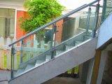 Лестница Tempered стекла безопасности с поручнем нержавеющей стали