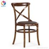 中国の製造者のホテルのレストランの木製の十字の背部椅子によって使用される椅子