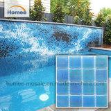 파랑은 이집트 4mm 유리제 모자이크 수영풀 도와를 착색한다