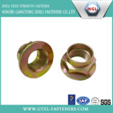 Noix de bride d'hexagone de l'acier du carbone de qualité DIN 6923