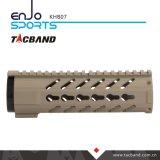 Composto della fibra del carbonio di Keymod Handguard della guida di Picatinny di 07 pollici (CFC)