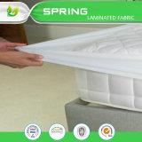 Protector impermeable antibacteriano claro de plata al por mayor del colchón de China Terry