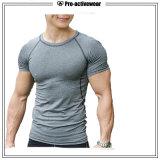 2017의 최신 판매 스포츠 착용 빠른 건조한 남자의 t-셔츠