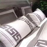 Вышитые роскошные комплекты постельных принадлежностей гостиницы хлопка