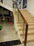 Лестница из нержавеющей стали с закаленным стеклом палубе столбы ограждений и поручень