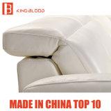 Weiße Farben-lederne stützende Schnittsofa-Möbel von online