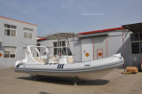 Liya 6m de la fibra de vidrio costilla costilla barco de pesca barco bote hinchable