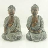 宗教様式の実物大の青銅色の樹脂の仏の彫像