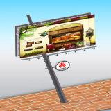 Tabellone per le affissioni esterno di Unipole della pubblicità del lato del doppio della strada di città