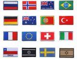 Bandera de tela personalizada parche bordado con gancho y bucle (YB-E-018)