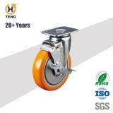 5'' PU Roulette Roulette industrielle de pivot de roue