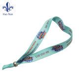 Custom Cheap Festival tissé de polyester de bracelets avec logo