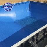 Fodera della piscina del vinile di resistenza di rottura/pellicola del raggruppamento con tessuto