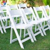 Résine blanche intense pliant les présidences de jardin extérieures Hly-RS049