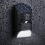 Bambussolarlampe der form-18 LED mit PIR Bewegungs-Fühler-im Freien wasserdichtem Wand-Sicherheits-Garten-Licht