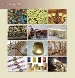 El bronce en polvo de color oro pálido rico cobre oro en polvo de pigmento en polvo de metal