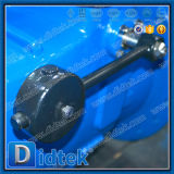 Válvula de verificación completamente abierta de la mariposa del acero de carbón del disco de Didtek