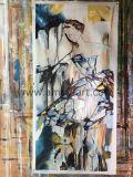 100 % Handmade Abstract Lady danseur figuratif Peinture d'huile sur toilepour décoration murale