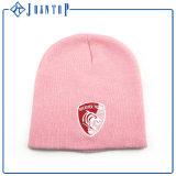 Tejido personalizado roja Boy Pom Pom Beanie Hat