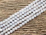 De natuurlijke Gefacetteerde Blauwe Parels van het Agaat van het Kant om Levering voor doorverkoop van de Fabriek van de Parels van de Halfedelsteen van 24mm de Bulk