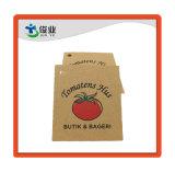 Papel Kraft de alta calidad Hang Tag/etiqueta de papel hecho personalizado