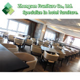 La personalización de metal moderno de madera Mesa muebles de cuero tejido Silla de Comedor Restaurante Bar Cafetería