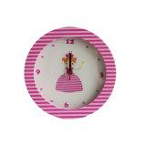 Chic princesse en bois mur Horloge à quartz