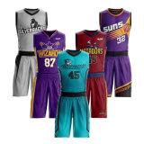 Aceitar a ordem de amostra de homens e mulheres de uniformes de basquete reversível