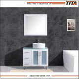 Vidrio lacado blanco Vanidad de vanidades de Baño Superior T9140-36wl