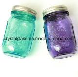Anstreichendes blaue Farben-Kugel graviertes Glasmaurer-Glas